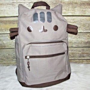 Pusheen Cat Face Nylon Backpack